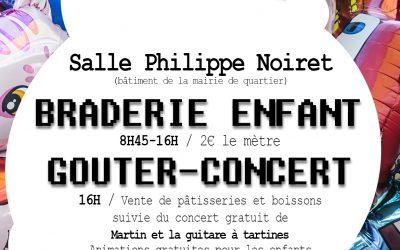Braderie Enfant : Goûter – Concert