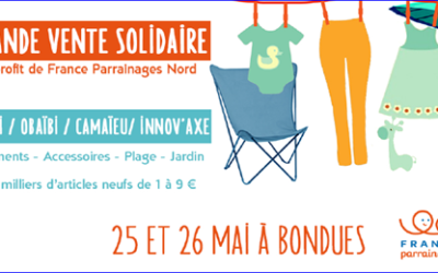 Bondues : 25 & 26 mai – vente solidaire !