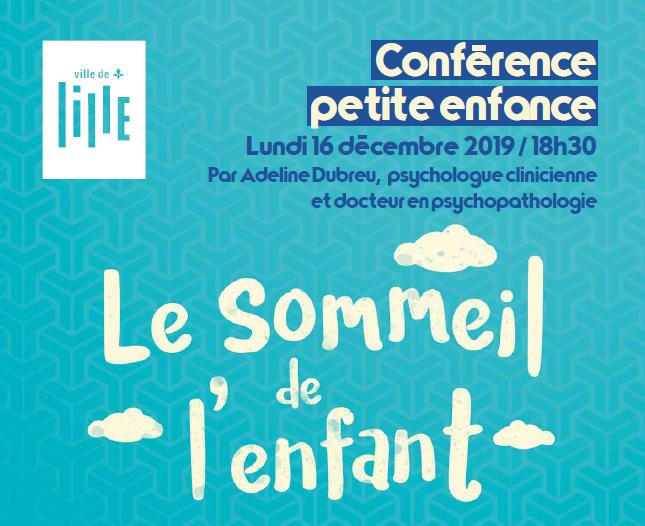 Conférence Petite Enfance Ville de Lille – Le sommeil de l'enfant